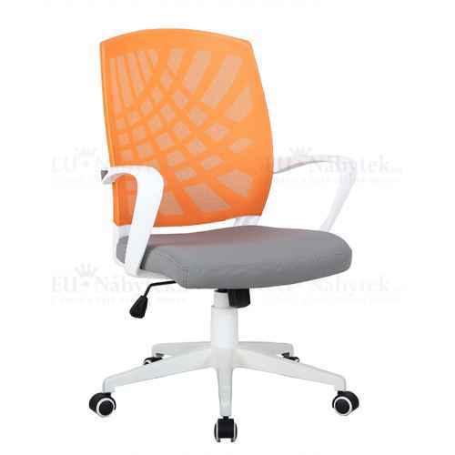 Kancelářské křeslo, oranžová / šedá / bílá, VIDAL