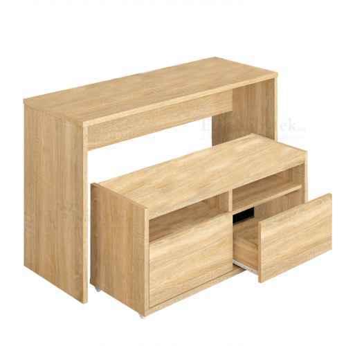 Víceúčelový stůl a lavice, dub sonoma, DELIMA
