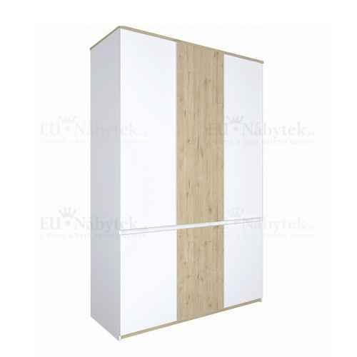 Věšáková skříň, dub wellington / bílá, LEIRA 6D