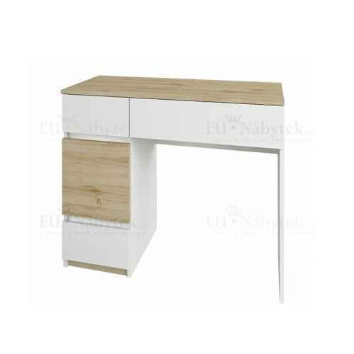 Toaletní stolek, dub wellington / bílá, LEIRA