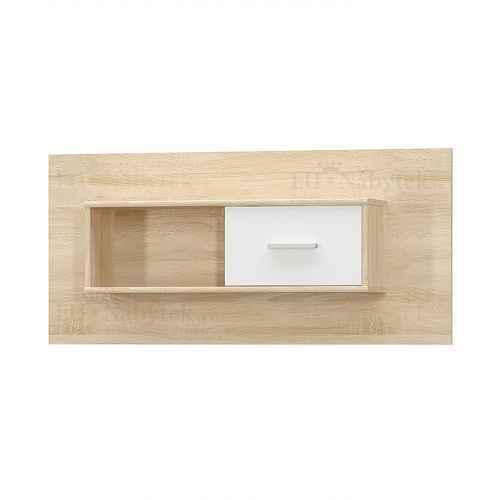 Visící skříňka 1D, bílá/dub sonoma, TEYO