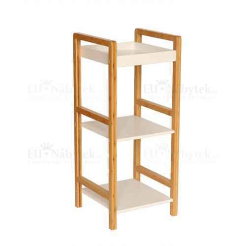 Úložný regál, lakovaný bambus/bílá, NIMES