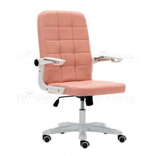Kancelářské křeslo, bílá / růžová, Zargo