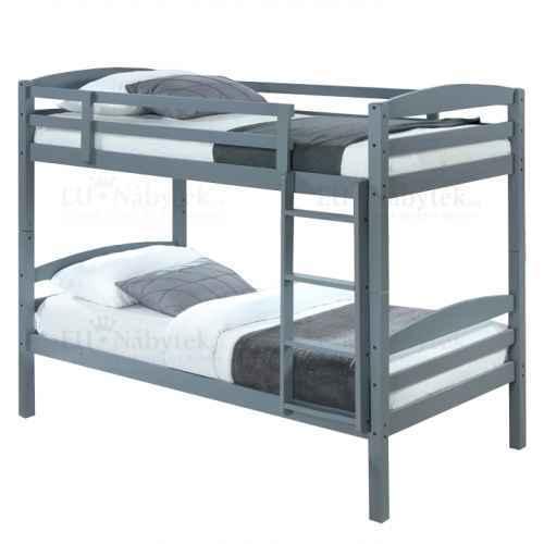 Patrová postel, 90x200 cm, masivní dřevo, FORKOLA