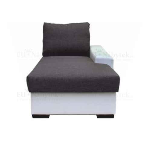 Otoman s úložným prostorem, bílá / šedá, pravý, OREGON 02-OTOM