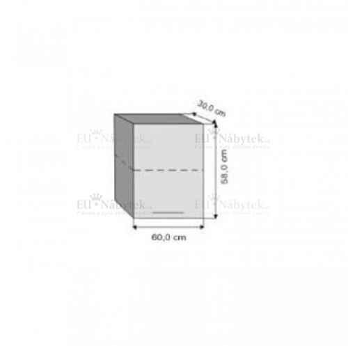W60 / 58 h. skříňka jednodvéřová olše DOPRODEJ