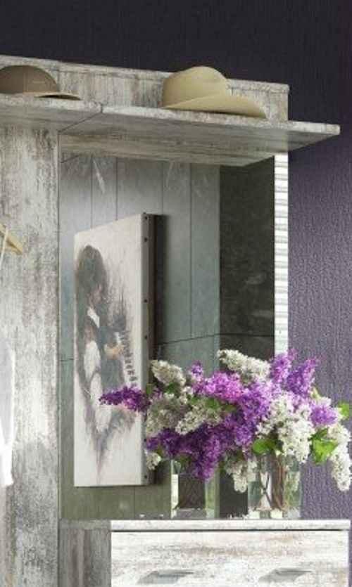 Zrcadlo MONTANA bílá borovice DOPRODEJ