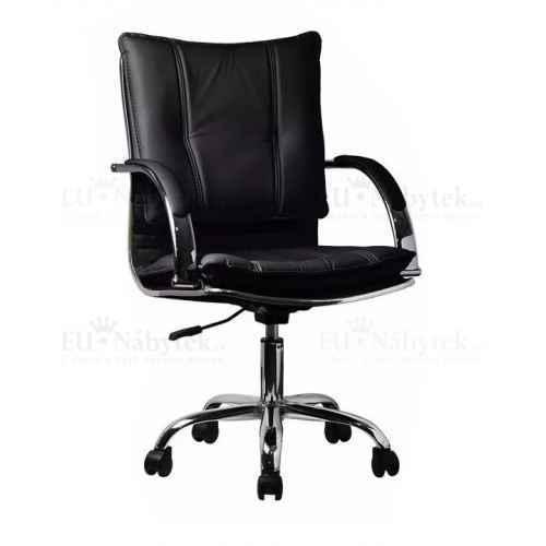 Kancelářské křeslo, ekokůže černá, Quirin NEW