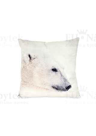 Polštář  s výplní. Lední medvěd design.