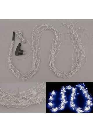 Řetěz s LED světýlky, do zásuvky, venkovní IP44  barva studená bílá