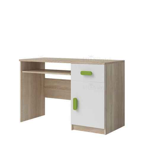 PC stůl CMYK dub sonoma / zelená