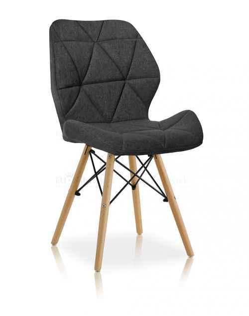 Skandinávská židle LIOTTE BIG 2 tmavě šedá DOPRODEJ
