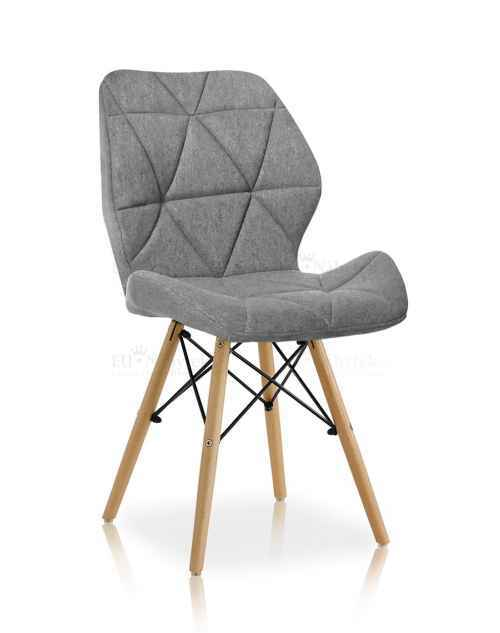 Skandinávská židle LIOTTE BIG 2 světle šedá DOPRODEJ