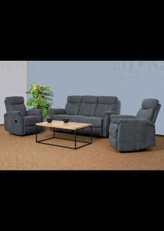 3+1+1 Sofa (with 3 function), GREY FABRIC