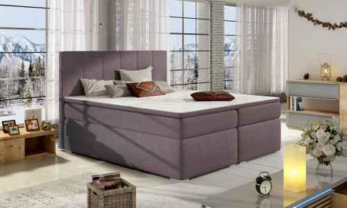 Kontinentální postel Boxspring MARIO fialová 180x200cm