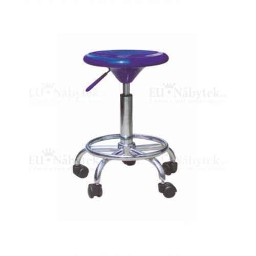 Židle, modrá / chrom, MABEL 2 NEW