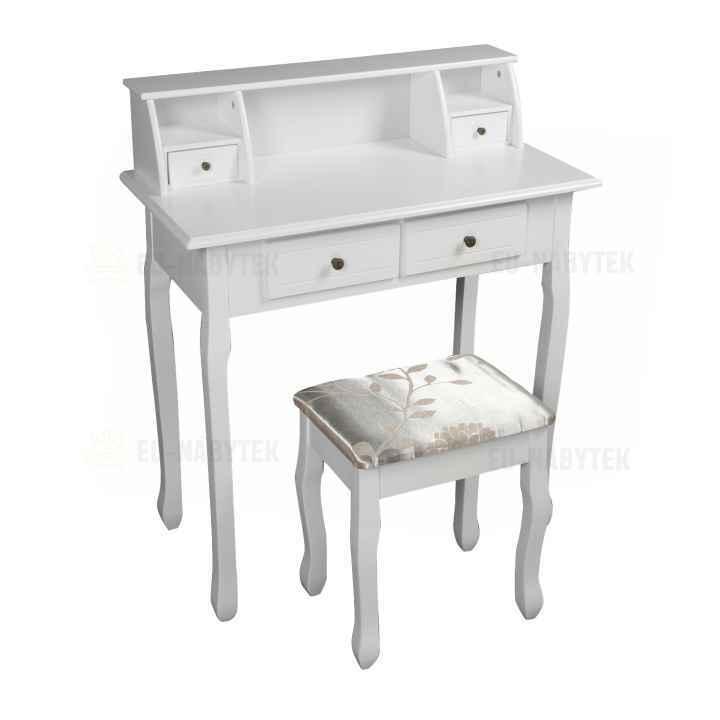 Toaletní stolek / toaletka, bílá, RODES NEW