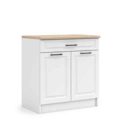 Kuchyňská skříňka ASTA, spodní dvoudvéřová 60cm, bílá mat