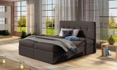 Kontinentální postel Boxspring VALENTINA hnědá 160x200cm