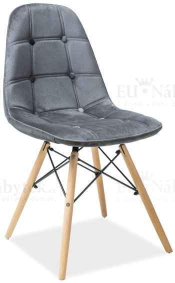 Skandinávská židle SASSY šedá DOPRODEJ