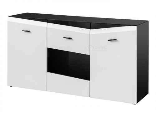 Komoda VEKRA 150 černá / bílá