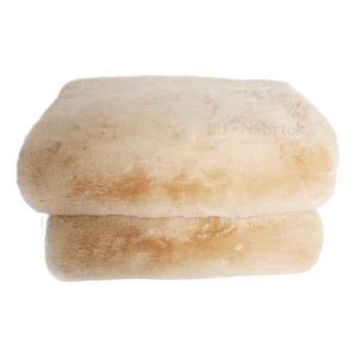 Kožešinová deka, béžová, 150x180, RABITA NEW TYP 2