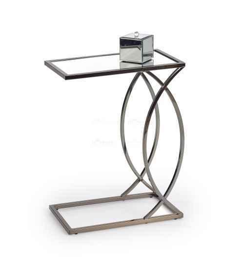 Příruční stolek PARMA černý nikl / sklo