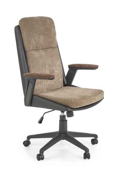 Kancelářská židle HERBIC hnědá / černá