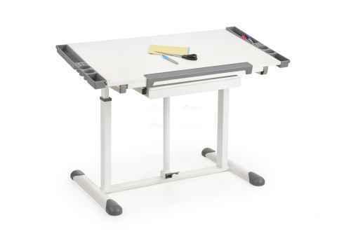 Pracovní stůl B42 bílá / šedá