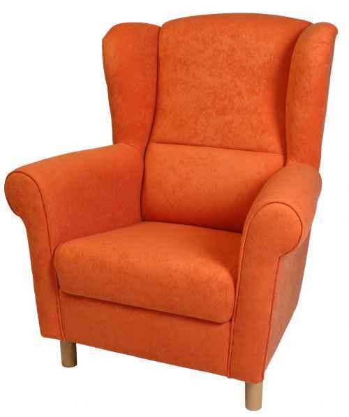 Křeslo ušák Charlot oranžová