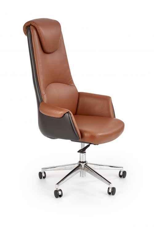Kancelářská židle CALVANO tmavě hnědá / světle hnědá