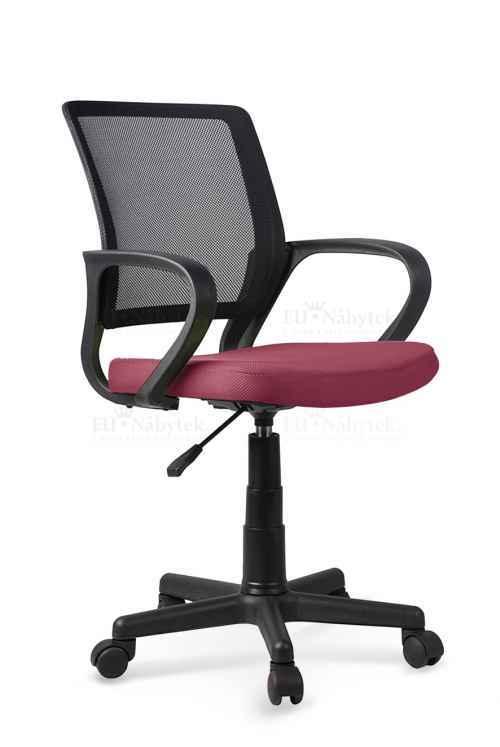 Kancelářská židle JOEL černá / růžová