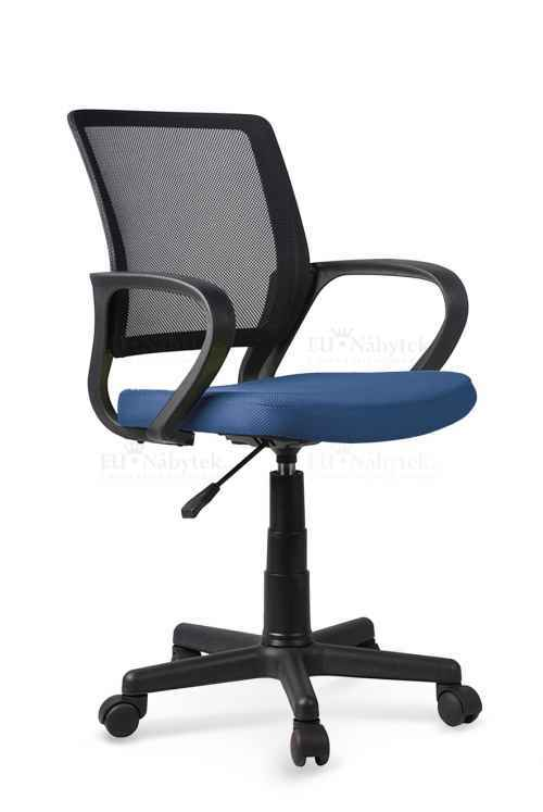 Kancelářská židle JOEL černá / modrá