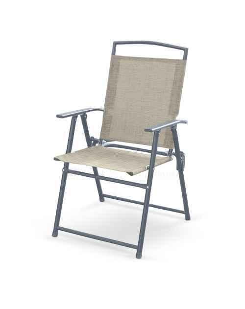Zahradní židle ROCKY skládací šedá