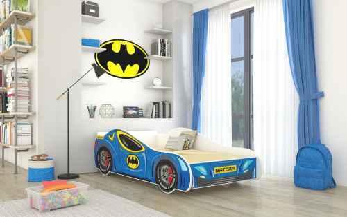 Dětská postel BATMAT modrá + matrace