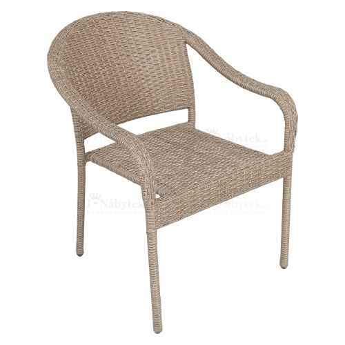 Záhradnná stohovatelná židle, hnědá, BINGA