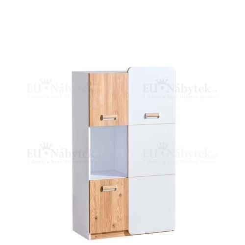 LORENZO L5 kombinovaná skříň bílá / dub nash