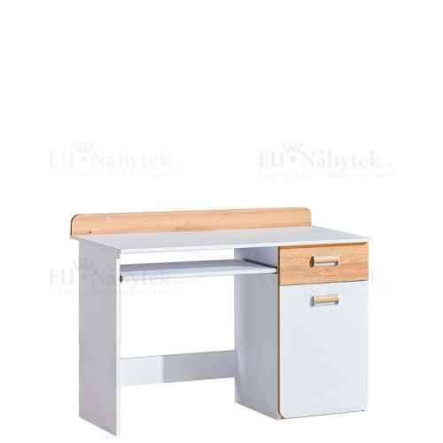 LORENZO L10 pracovní stůl bílá / dub nash