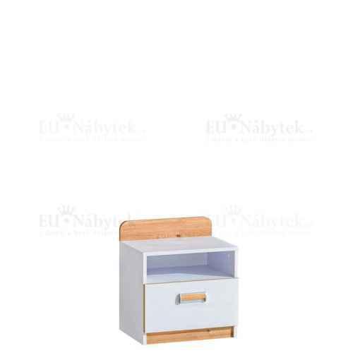 LORENZO L12 noční stolek bílá / dub nash