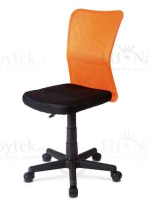 OFFICE CHAIR BACK ORANGE MESH / SEAT BLACK MESH